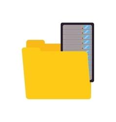 Folder data center server technology vector