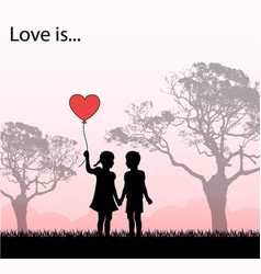 Loving kids loving kids vector