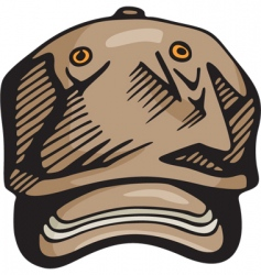 baseball hat vector image