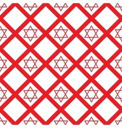 Red crystal david seamless pattern vector