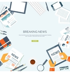 Flat header Newsletter vector image