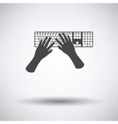 Typing icon vector