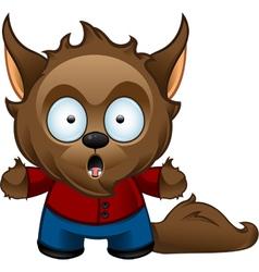 Werewolf Monster Shocked vector image