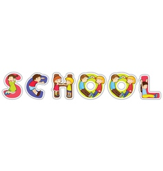 School Sign vector image