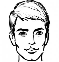 attractive man vector image vector image