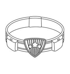 Belt single icon in outline stylebelt vector