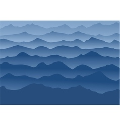 Blue mountains in the fog vector image