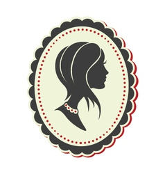 Cameo lady short hair vector