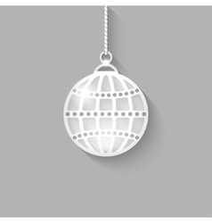 Christmas ball on gray background vector image