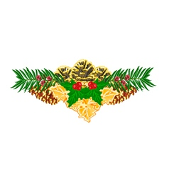 Christmas decoration with pinecones vector
