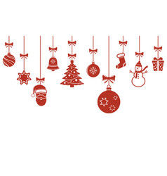Christmas hanging ornaments background christmas vector