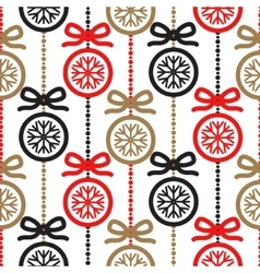 Christmas tree decoration seamless pattern vector image vector image