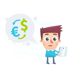 Currency conversion using the online application vector