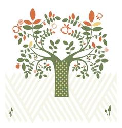 Fantasy design with tree vector image vector image