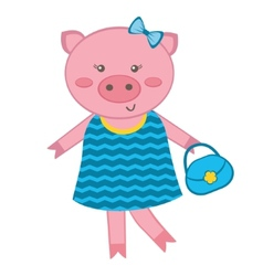 Fashionable Pig vector image vector image