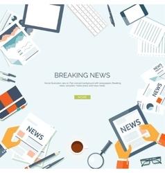 Flat header newsletter vector