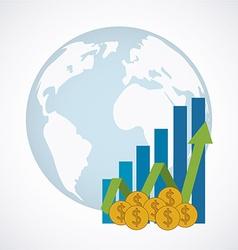 Global economy design vector