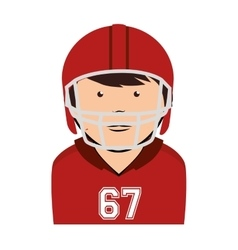 man player american football icon vector image