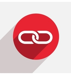 Modern chain red circle icon vector