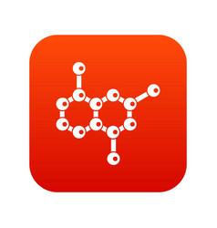 molecule icon digital red vector image vector image