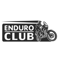 motocross race enduro extreme motorcycle driver vector image