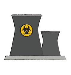 Nuclear plant icon image vector