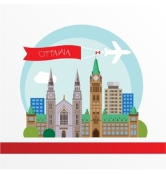 Ottawa detailed silhouette trendy vector