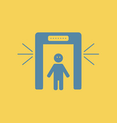 People scanner airport scanner vector