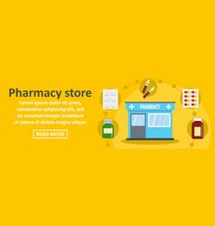 pharmacy store banner horizontal concept vector image