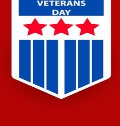 Poster of Veterans Day concept vector image vector image