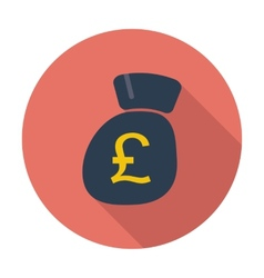 Pound sterling flat icon vector image