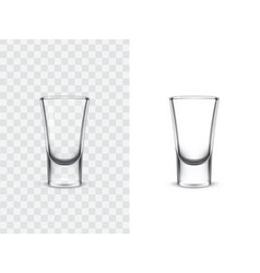 realistic shot glasses vector image vector image