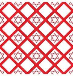 Red crystal david seamless pattern vector