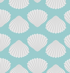 Seashell seamless pattern scallop vector