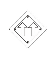 Silhouette metallic diamond shape frame same vector