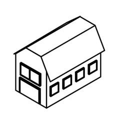 stable farm isometric icon vector image