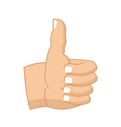 thumbs up hand sign isolated like symbol all vector image vector image