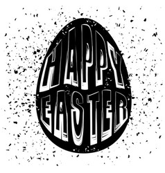 typography design of print with egg lettering vector image vector image