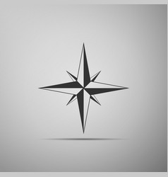 wind rose icon compass icon for travel vector image