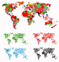 world map created with splats vector image vector image