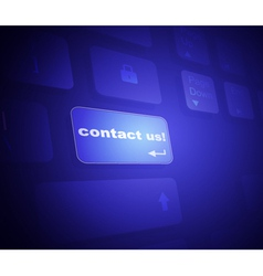 The button contact on a virtual keyboard vector image