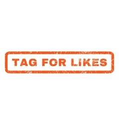 Tag for likes rubber stamp vector