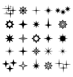 Monochrome sparks sparks elements and symbols vector