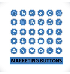 marketing buttons  icons set vector image