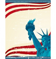 America poster template vector
