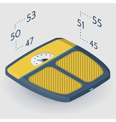 Isometric flat of floor scales vector