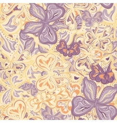 Seamless pattern with butterflies for vector image