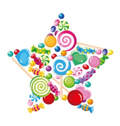 Candy star white vector