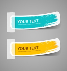 Colorful label paper brush stroke vector