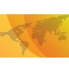 Gradient background with map of world vector